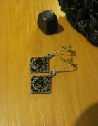 Kolczyki eleganckie czarne kamienie małe zdobione...