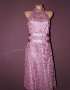 sukienka różowa...