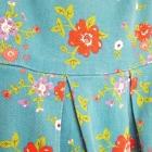 Bawełniana sukienka w stylu retro 46 3XL 48 4XL rozkloszowana niebieska w kwiaty