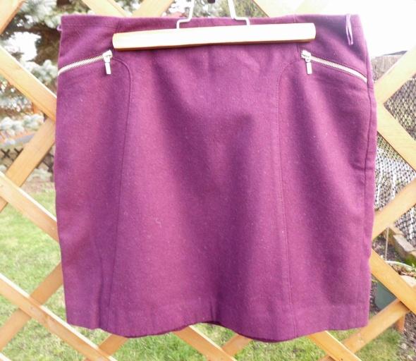 Spódnice bordowa spódnica Esprit 38 M 10 złote zipy