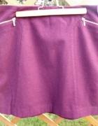 bordowa spódnica Esprit 38 M 10 złote zipy...