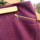 bordowa spódnica Esprit 38 M 10 złote zipy