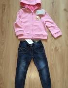 Bluza Princes Disney i jeansy dziewczęce 110...