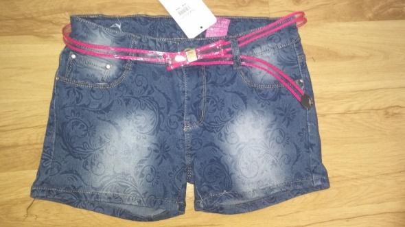 Spodenki Nowe damskie spodenki jeansowe we wzory rozm S