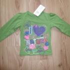 Nowy komplecik bluzeczka z długim rękawem zielona