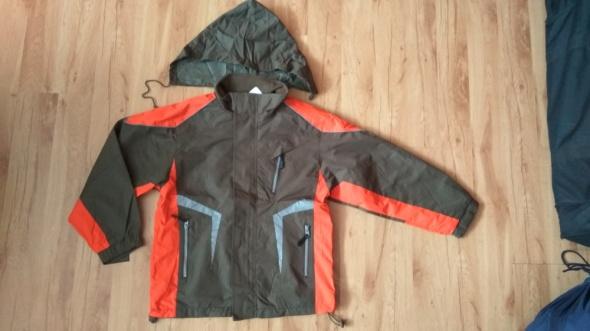 Nowa chłopięca kurtka khaki pomarańczowa jesienno
