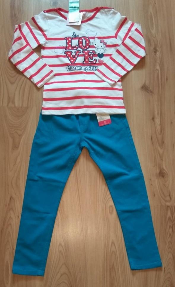 Nowy komplet bluzka Charmmykitty i spodnie 128