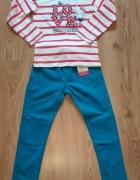 Nowy komplet bluzka Charmmykitty i spodnie 128...