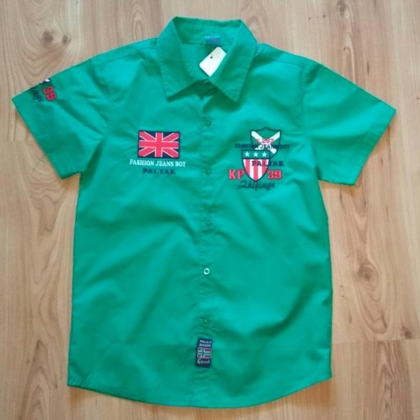 Nowa koszula chłopięca zielona rozm 164