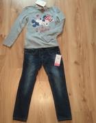 Komplet dziewczęcy bluzka z Myszką Minni i jeansy...
