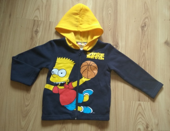 Granatowa chłopięca nowa bluza rozpinana Simpson 1