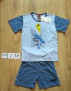 Nowa chłopięca piżama krótkim rękawem koszulka spodenki Batman 122 128