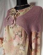 Super sweterek bolerko RXY fiolet róż 38 BDB