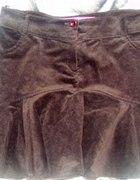 Brązowa sztruksowa spódniczka M lub L 13zł...