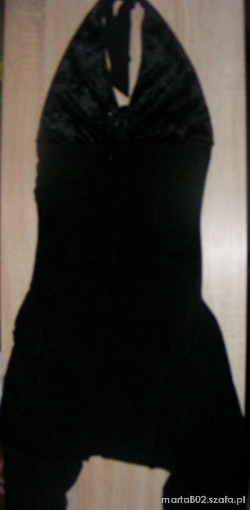 Suknie i sukienki czarna sukienka wiązana na szyi sml 15zł