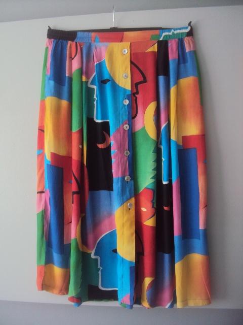 Spódnice kolorowa spódnca midi