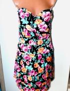 New Look Gorsetowa sukienka kwiaty 3840...
