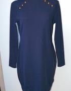 h&m dopasowana sukienka prążki 4042...
