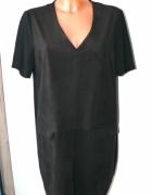 Atmosphere czarna sukienka prosta 4446