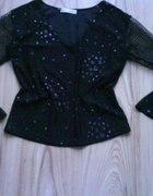 czarna imprezowa bluzka damska S M