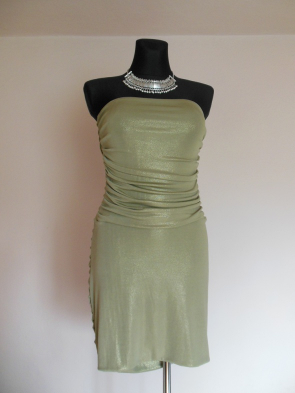 Vicky Martin złota sukienka tuba 40 42