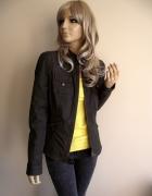 Świetna kurtka ramoneska ciemnozielona Esprit