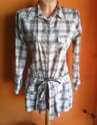 Koszula tunika w kratę