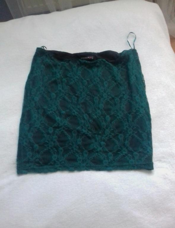 Spódnice Spódniczka spódnica zielona koronka FISHBONE