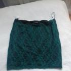 Spódniczka spódnica zielona koronka FISHBONE