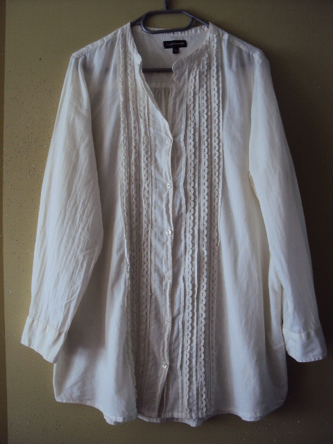 bawełnina koszula tunika z koronka