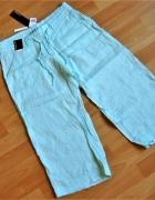 ATMOSPHERE nowe lniane spodnie rybaczki len 36...