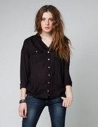 czarna koszula bershka