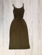 Długa sukienka khaki S M maxi...