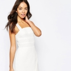 ASOS biała minimalistyczna sukienka 36