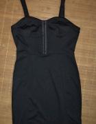 Sukienka mała czarna gorsetowa...