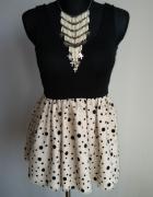 Sukienka w kropki groszki rozkloszowana...