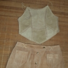 Zamszowa spódnica