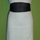 Biała spódnica haft boho