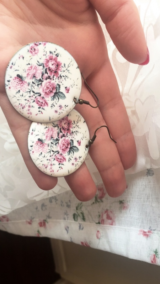 kolczyki floral