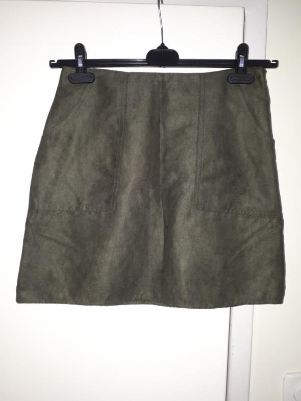 Spódnice Zamszowa spódniczka khaki Atmosphere