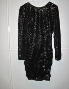Czarna sukienka H&M nowa z cekinami 40...