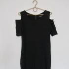 Czarna sukienka basic wycięte ramiona