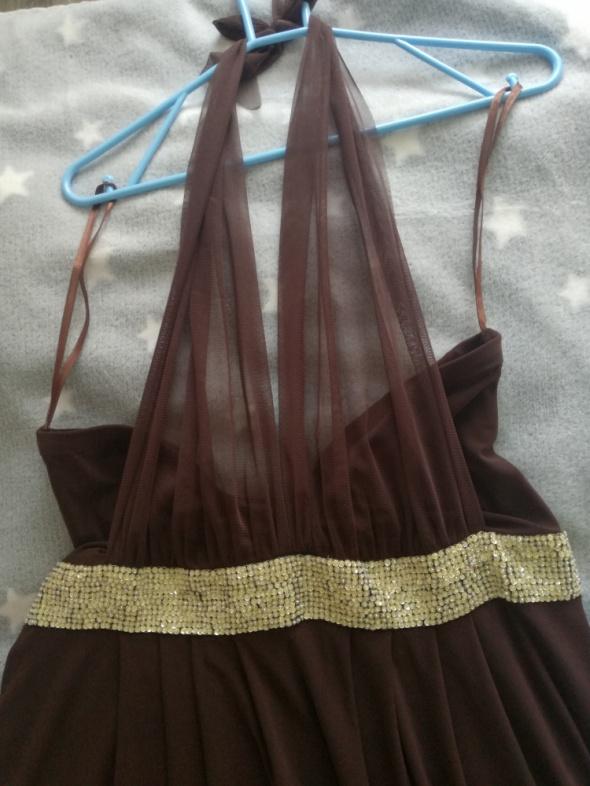 Sukienka brązowa Fokus 46