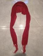 Czerwona bordowa apaszka chusta...