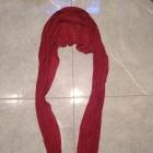 Czerwona bordowa apaszka chusta
