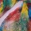 Oryginalna kolorowa tęczowa chusta ze zdobieniami