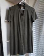 Sukienka z chokerem zamszowa khaki Primark XS...