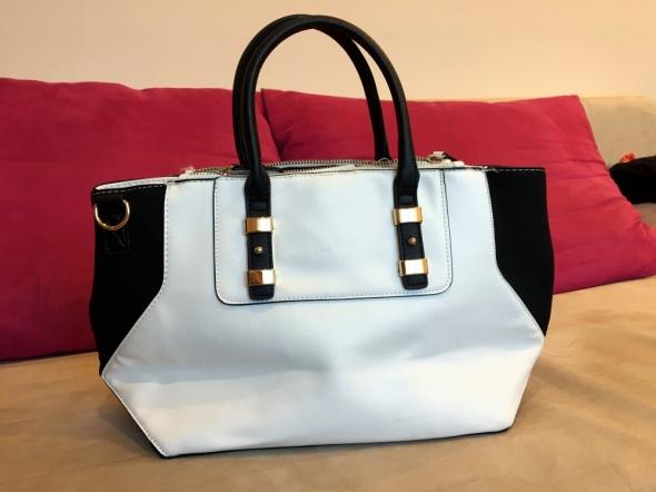 Biało czarna torebka New Look...