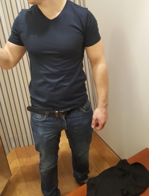 Koszulki i t-shirty Granatowa koszulka Hugo Boss S