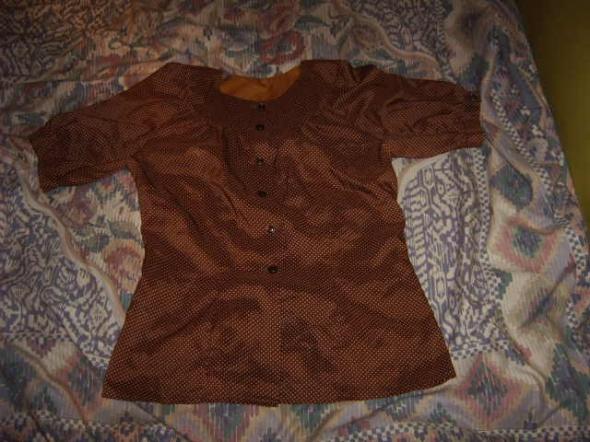 Bluzka koszulowa w kropki M L 38 40 vintage